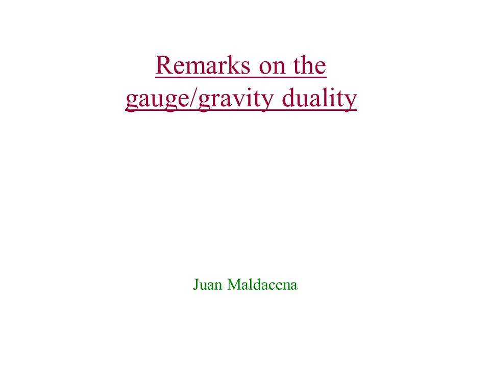 Remarks on the gauge/gravity duality