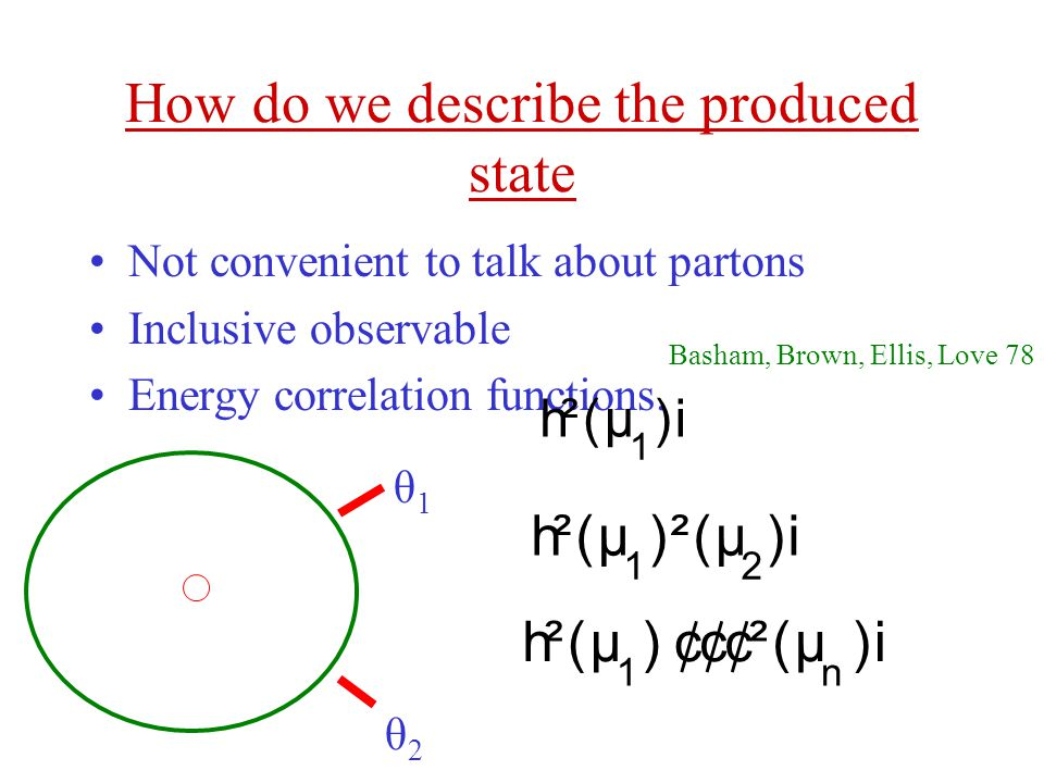 How do we describe the produced state