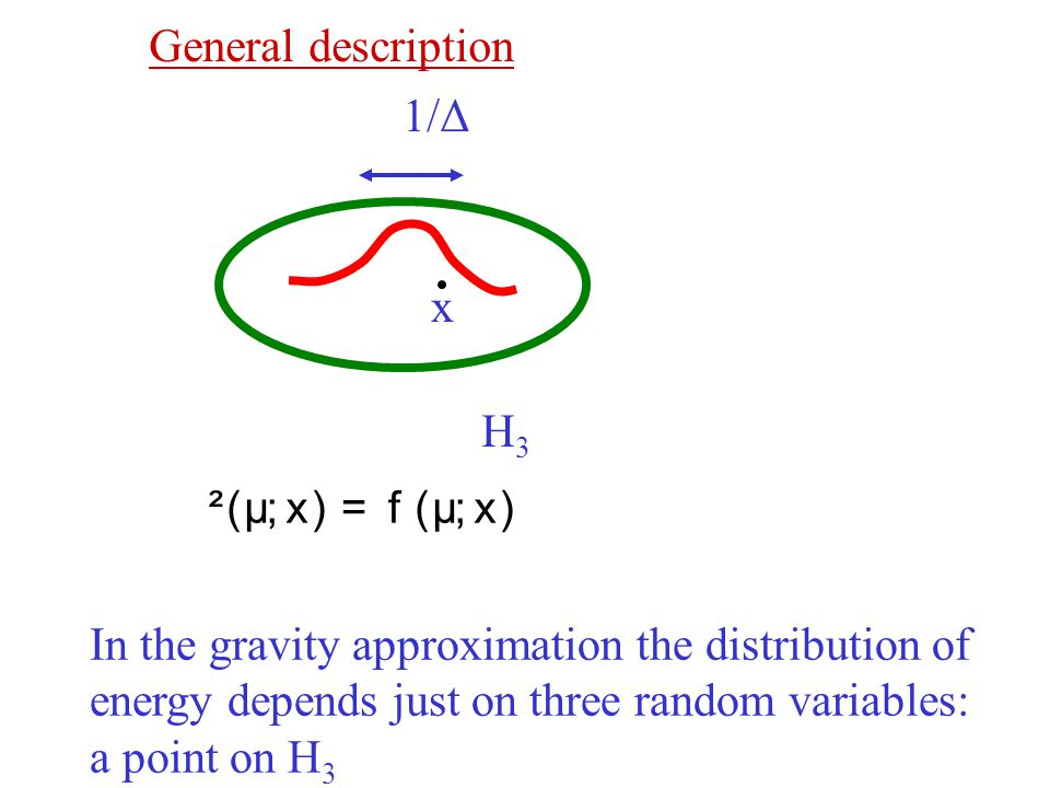 In the gravity approximation the distribution of
