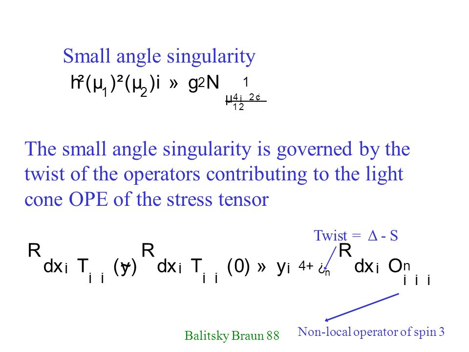 Small angle singularity