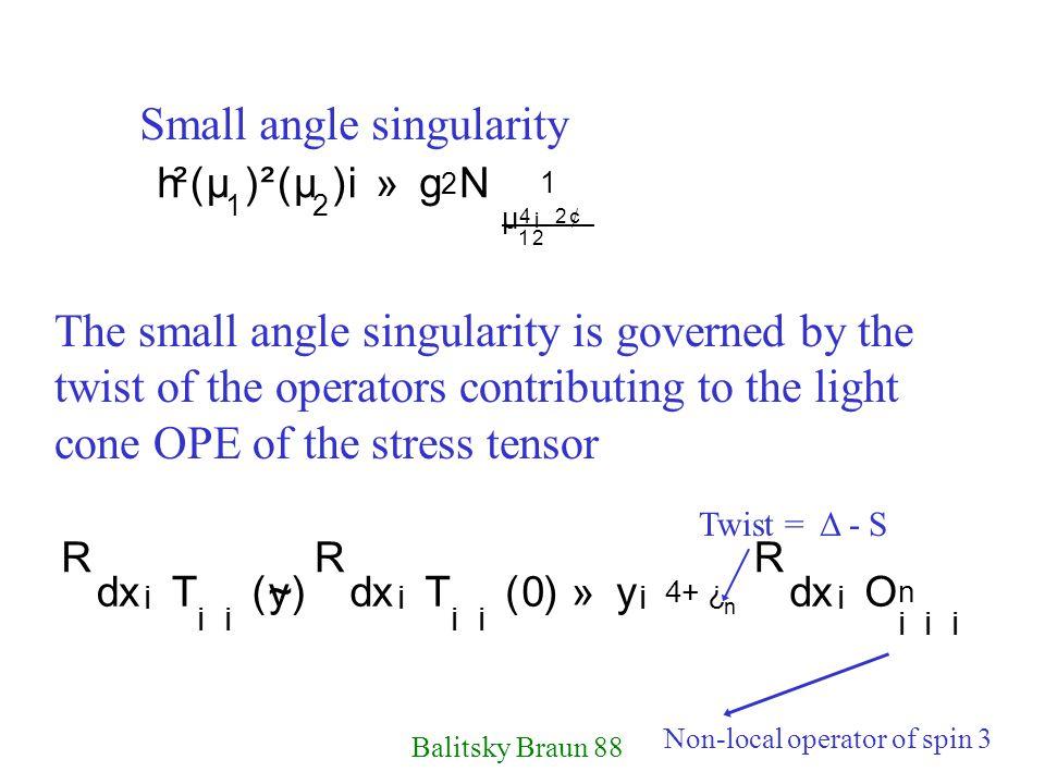 Small angle singularity