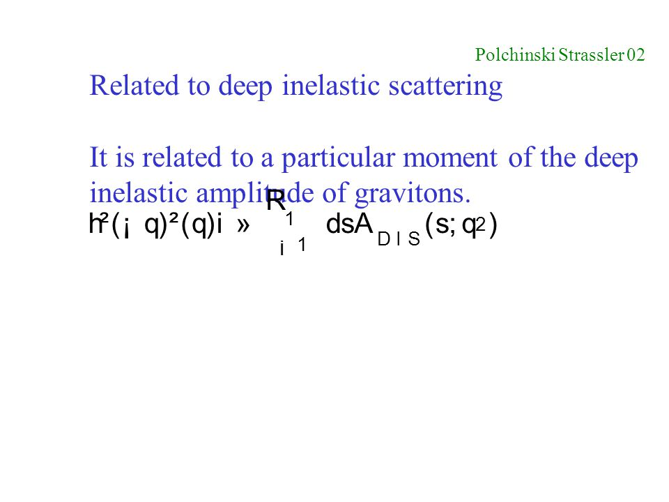Related to deep inelastic scattering