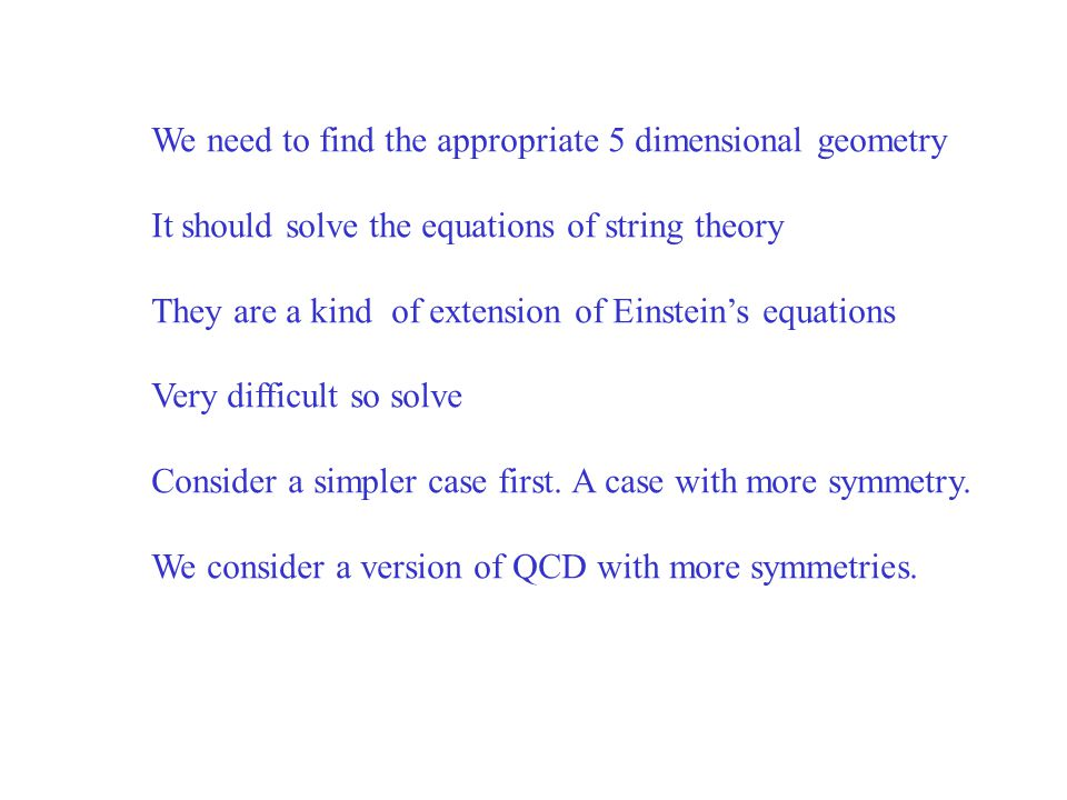 We need to find the appropriate 5 dimensional geometry