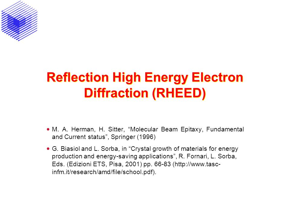 Reflection High Energy Electron Diffraction (RHEED)