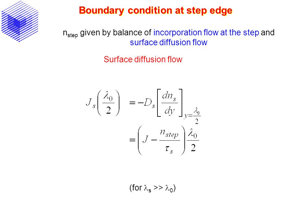 Boundary condition at step edge