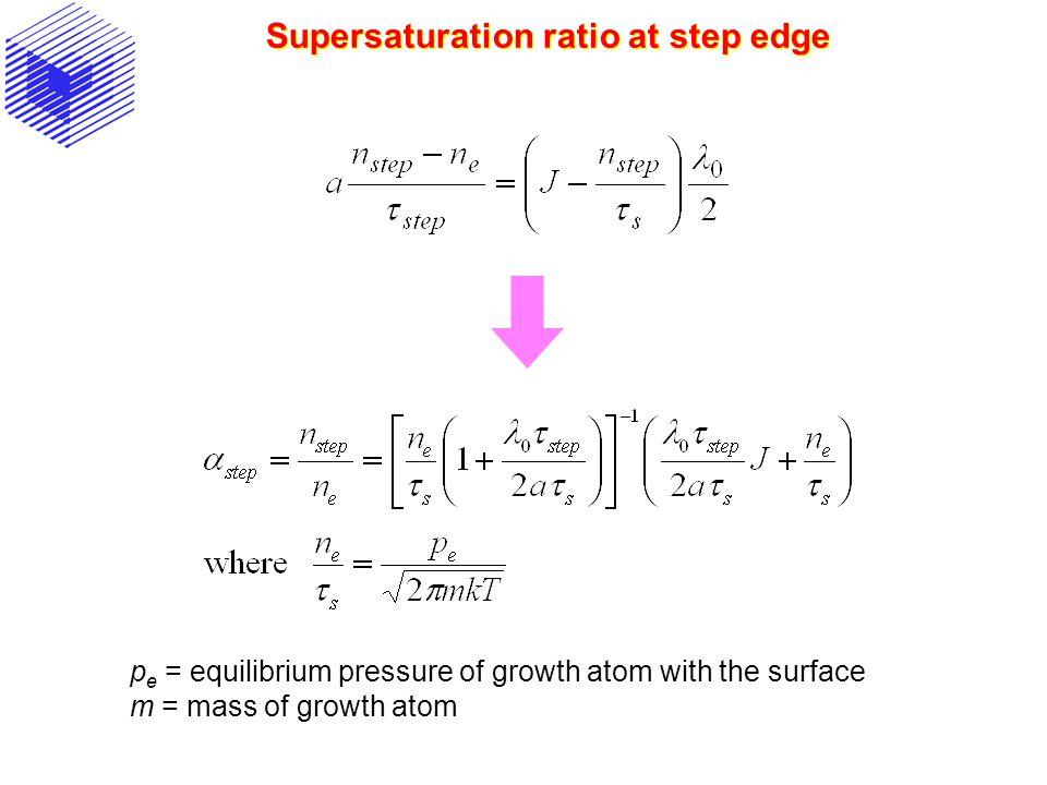 Supersaturation ratio at step edge