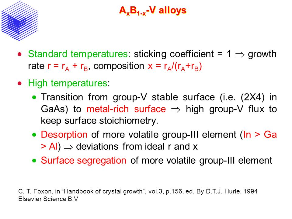 Surface segregation of more volatile group-III element
