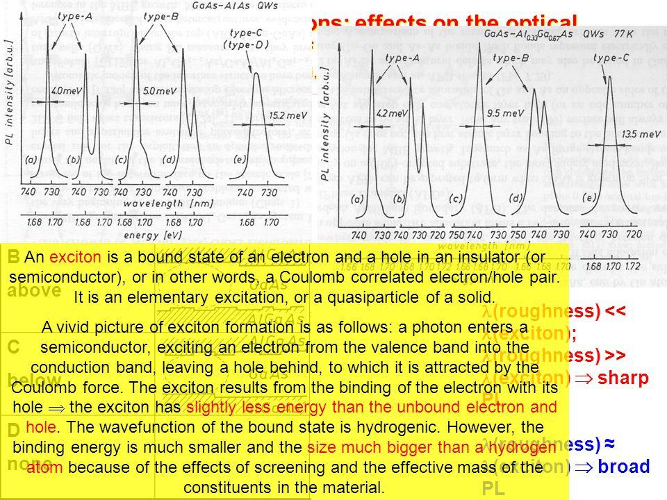 Growth interruptions: effects on the optical properties of GaAs/AlGaAs QWs M. Tanaka, H. Sakaki, J. Cryst. Growth 81, 153 (1987)