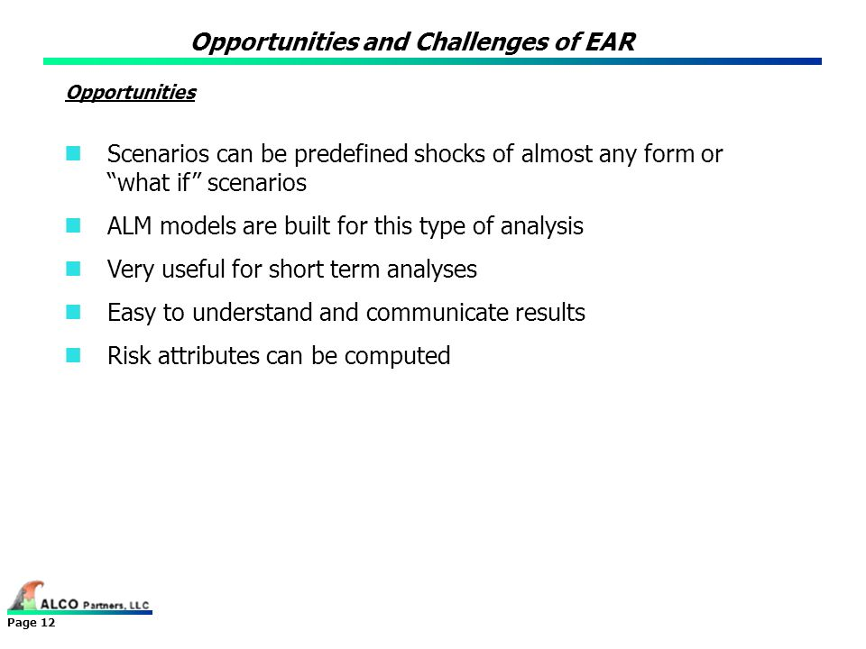Opportunities and Challenges of EAR