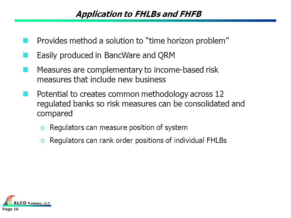 Application to FHLBs and FHFB