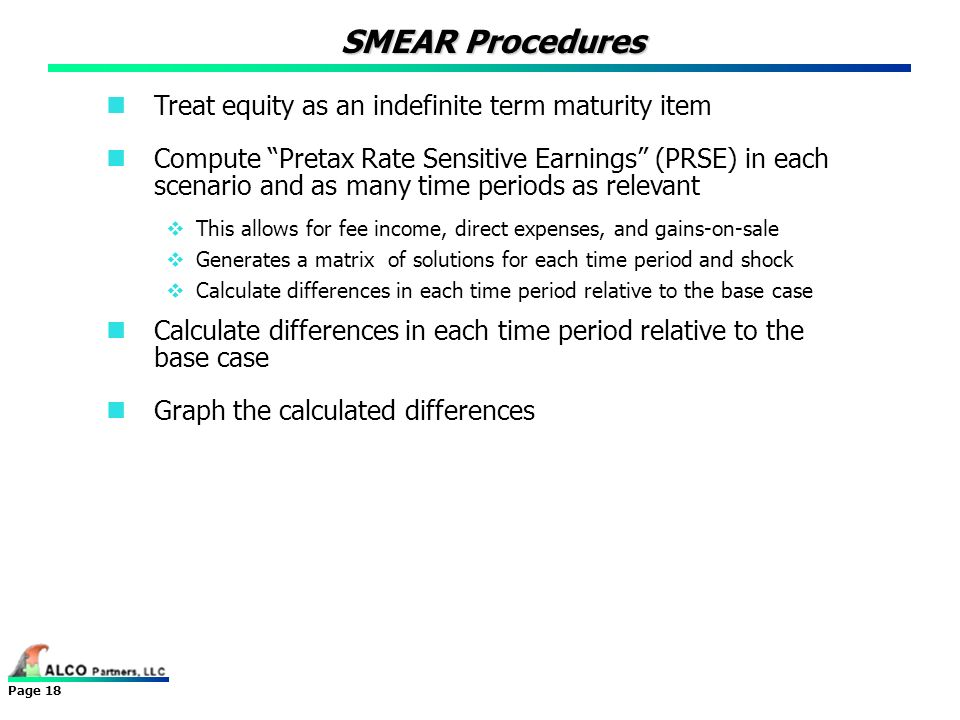 SMEAR Procedures Treat equity as an indefinite term maturity item
