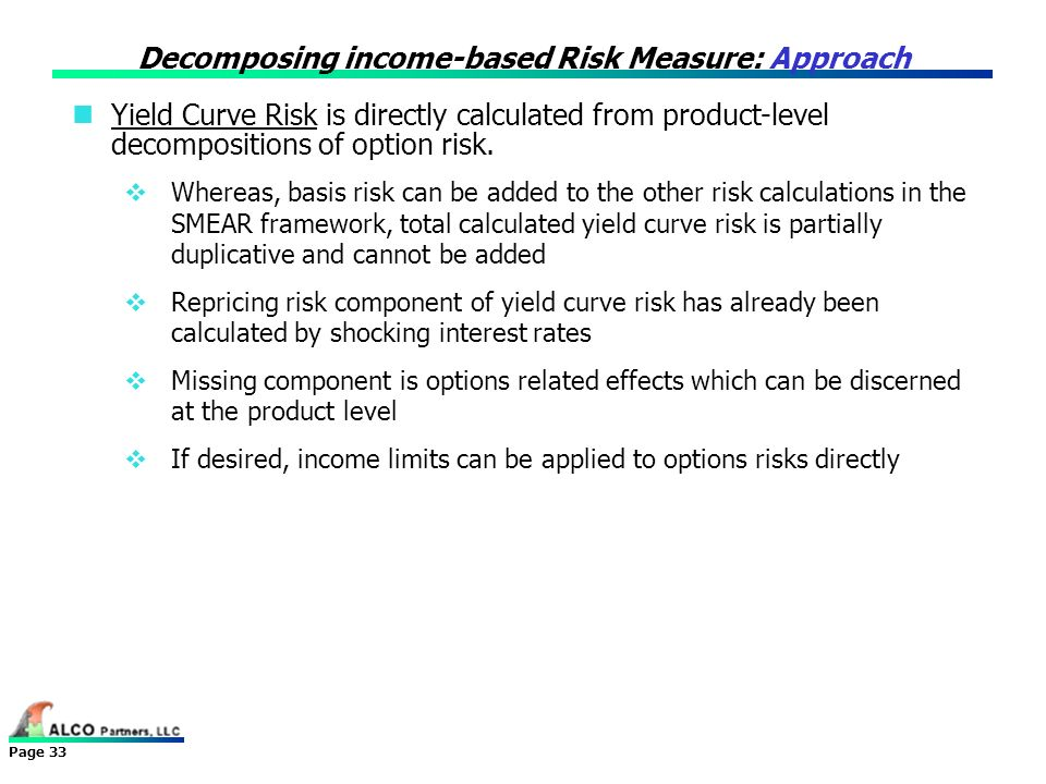 Decomposing income-based Risk Measure: Approach
