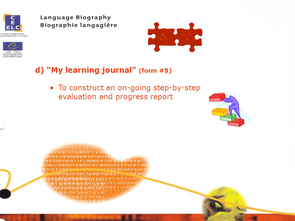 d) My learning journal (form #5)