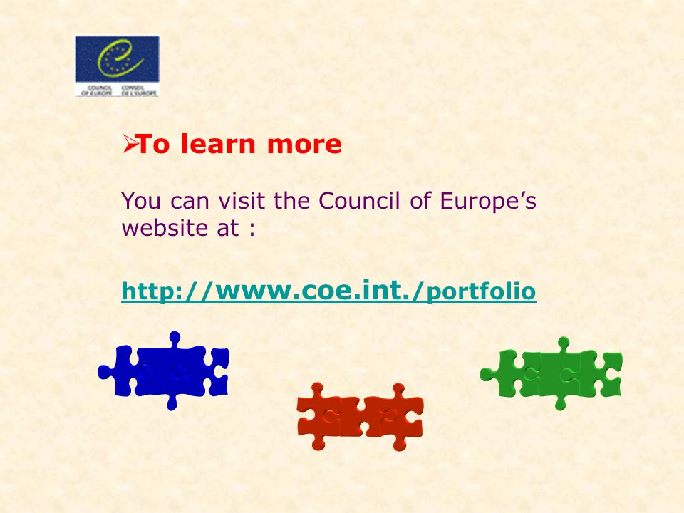 To learn more You can visit the Council of Europe's website at :