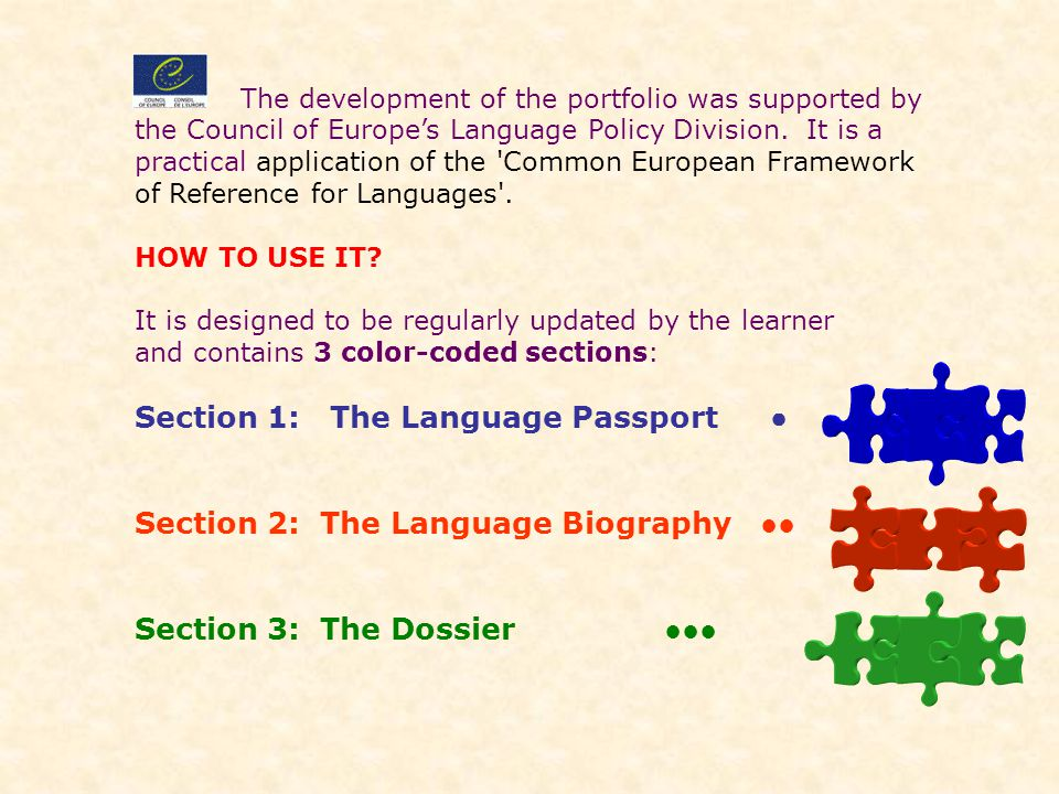 Section 1: The Language Passport ●