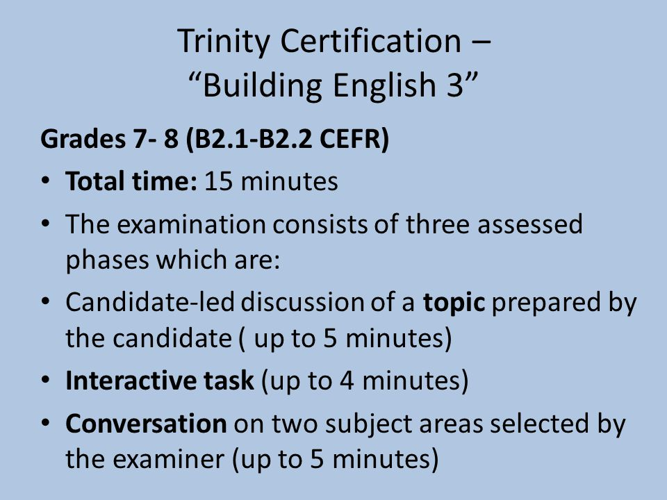 Trinity Certification – Building English 3