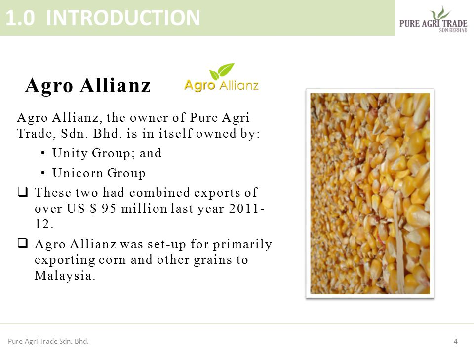 1.0 INTRODUCTION Agro Allianz