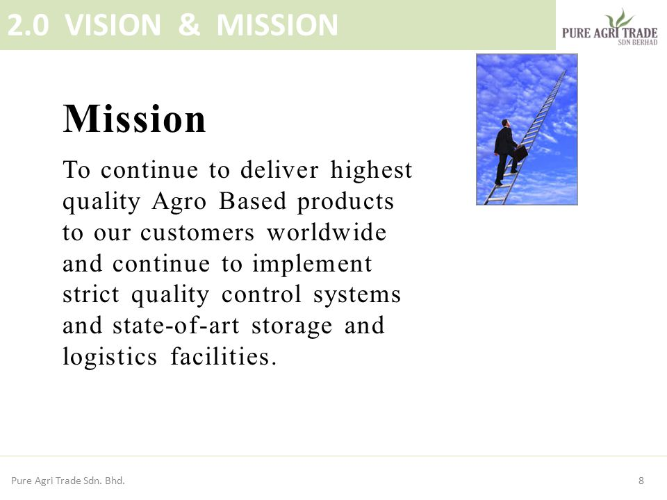 Mission 2.0 VISION & MISSION