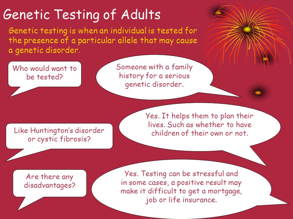 Genetic Testing of Adults