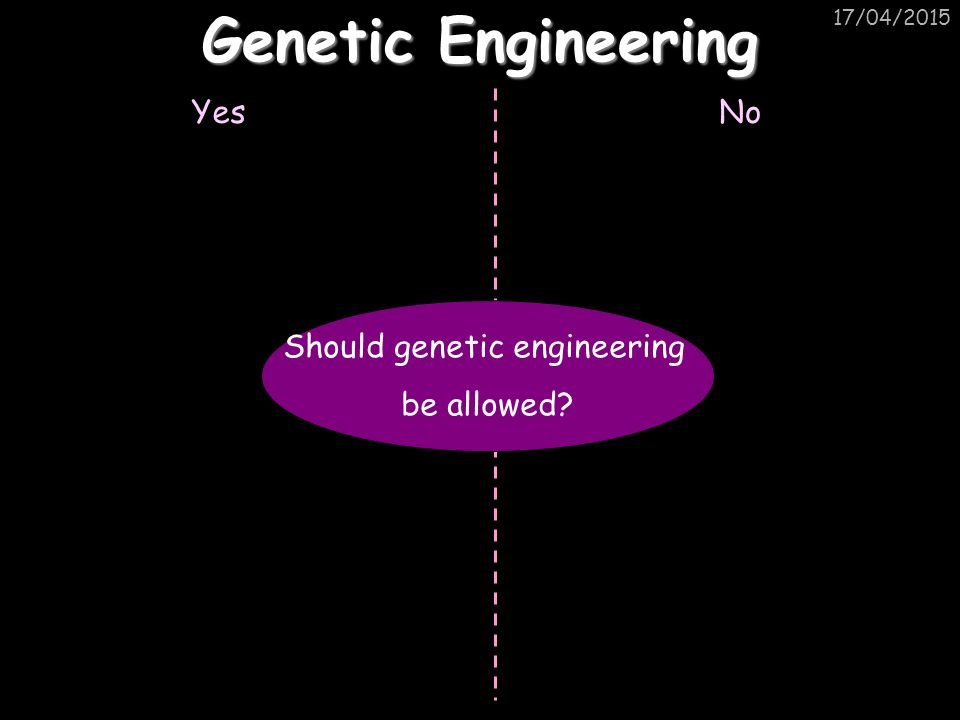 Should genetic engineering
