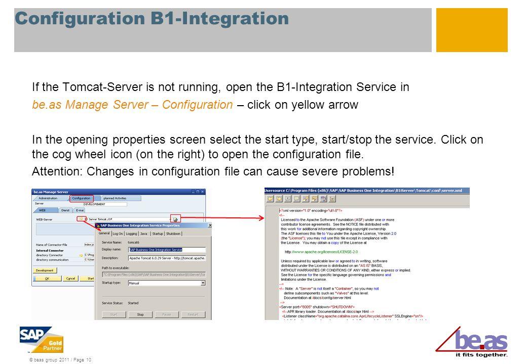 Configuration B1-Integration