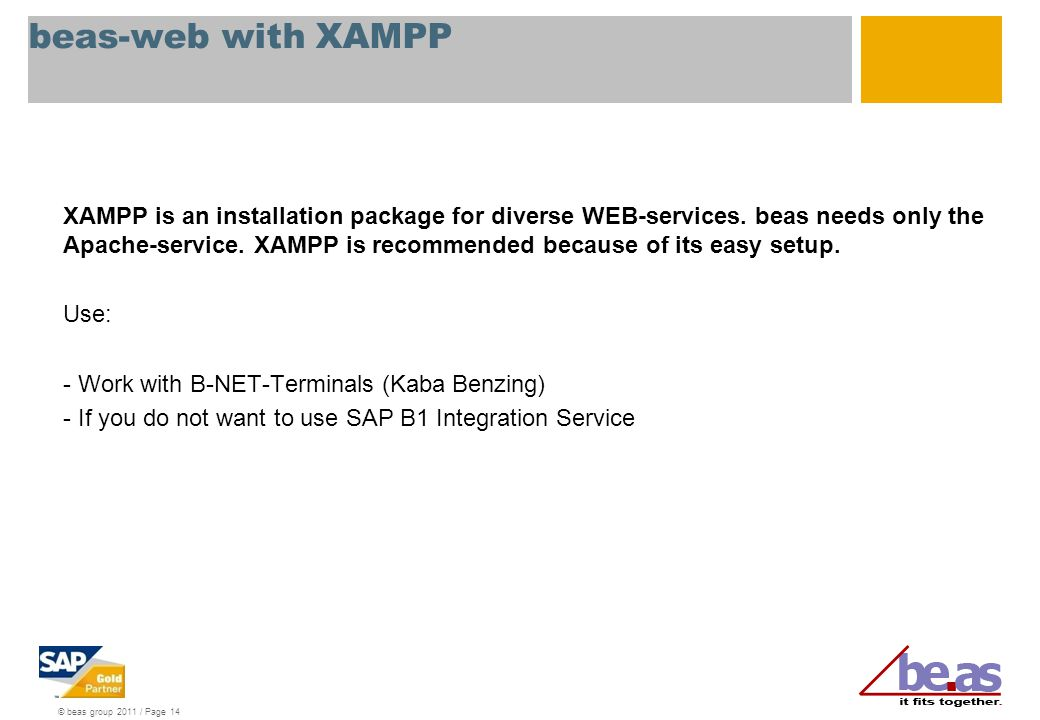 beas-web with XAMPP