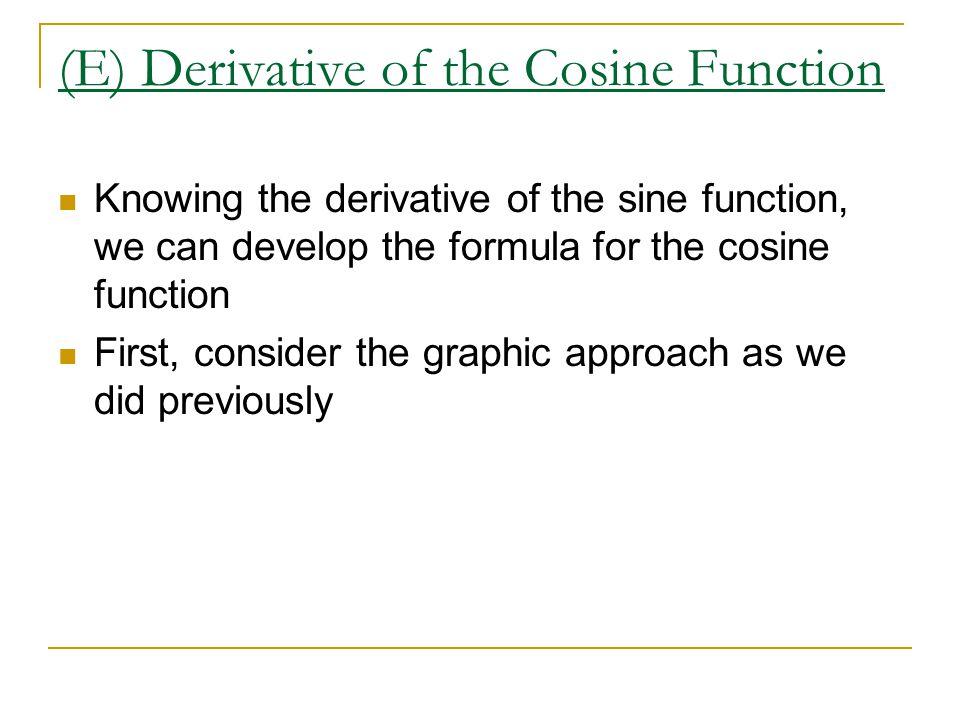 (E) Derivative of the Cosine Function