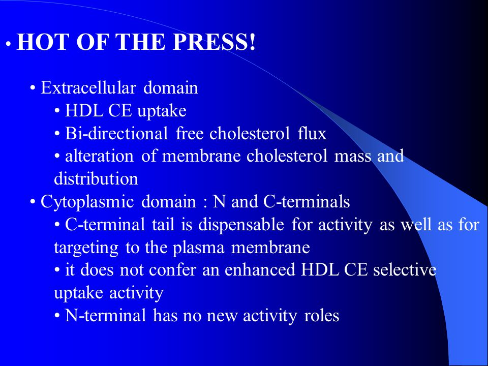 Bi-directional free cholesterol flux