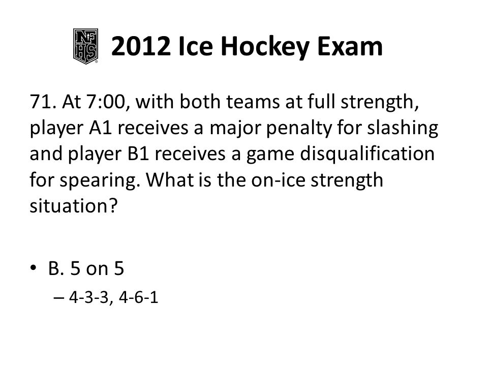 2012 Ice Hockey Exam