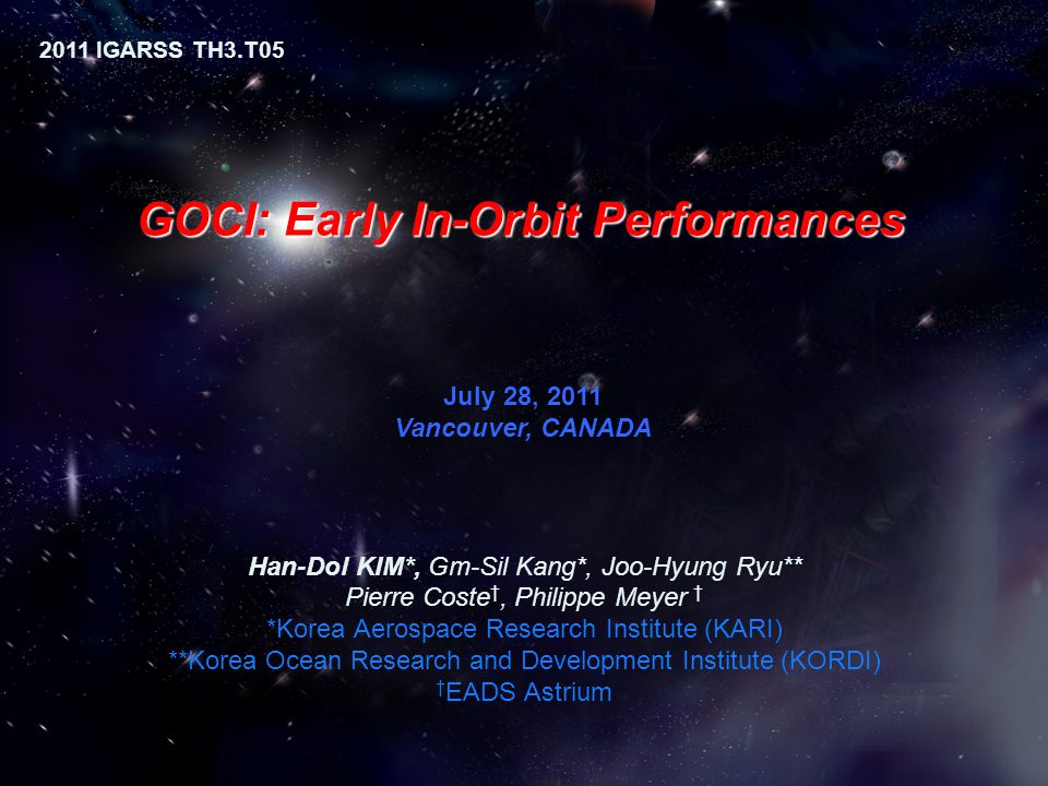 GOCI: Early In-Orbit Performances