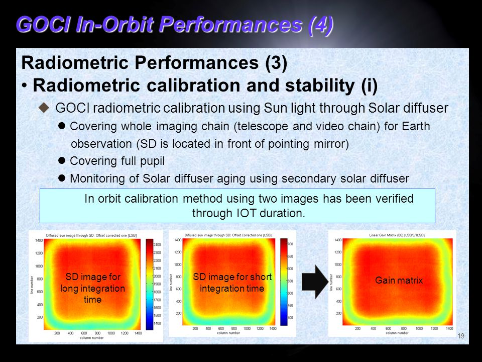 GOCI In-Orbit Performances (4)