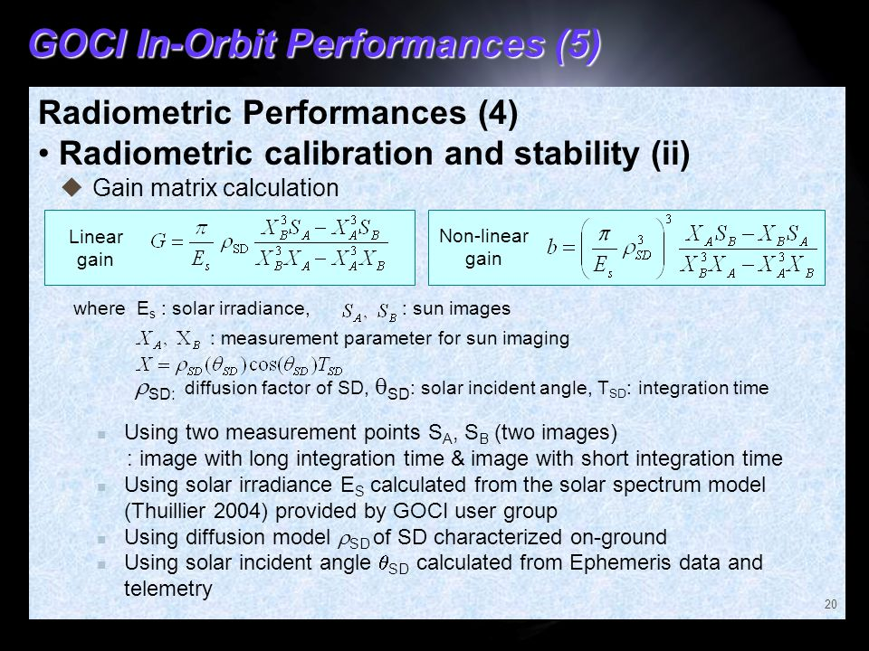 GOCI In-Orbit Performances (5)