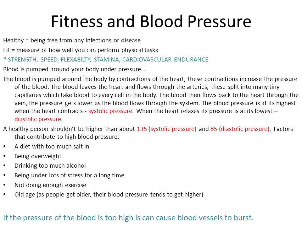 Fitness and Blood Pressure