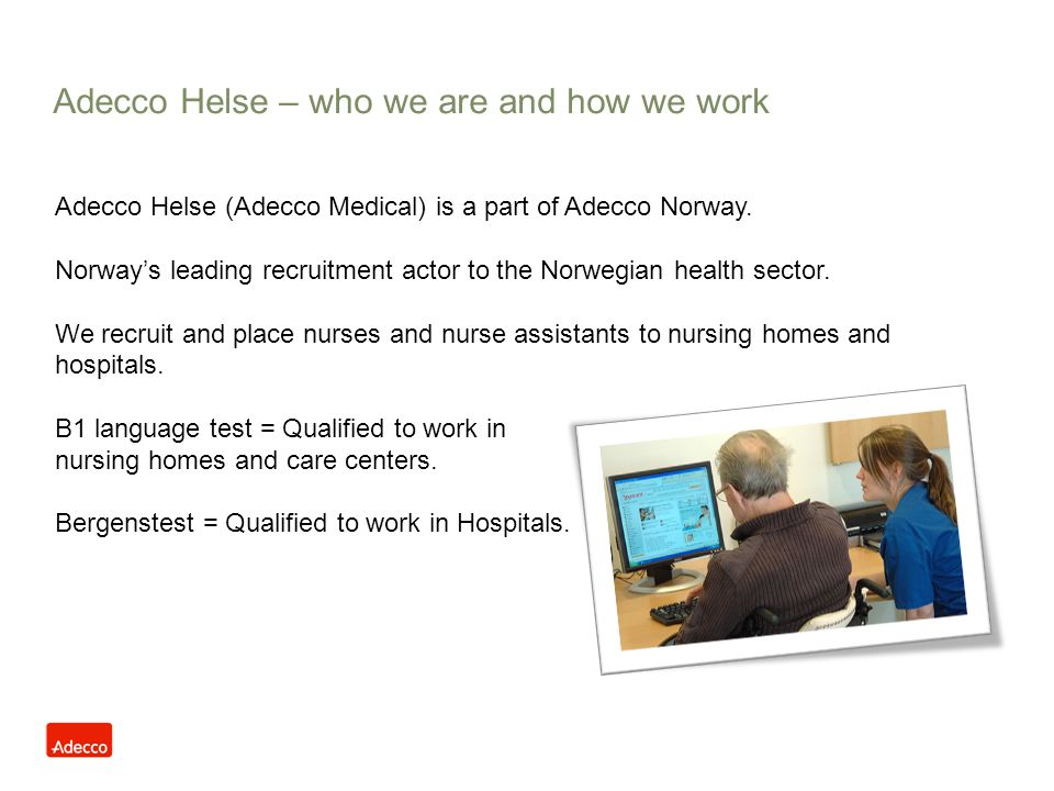 Adecco Helse – who we are and how we work