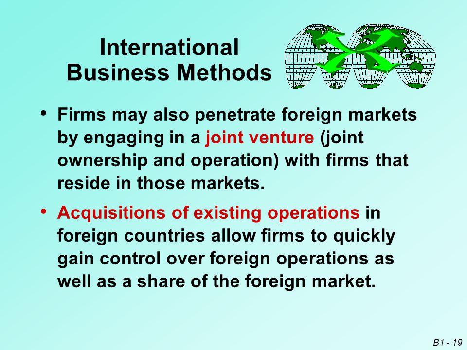 International Business Methods