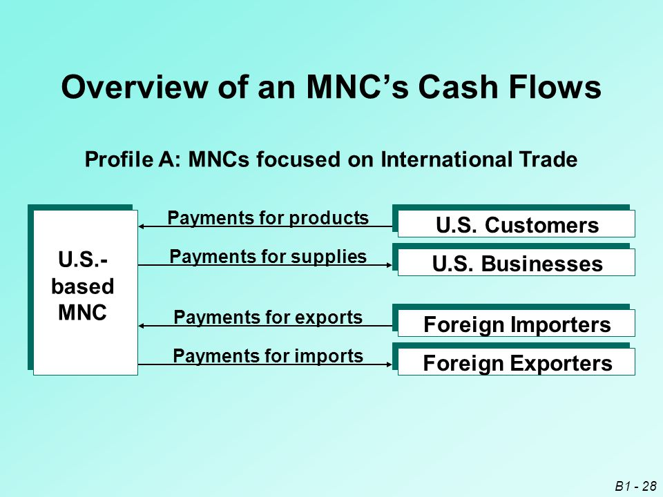 Overview of an MNC's Cash Flows