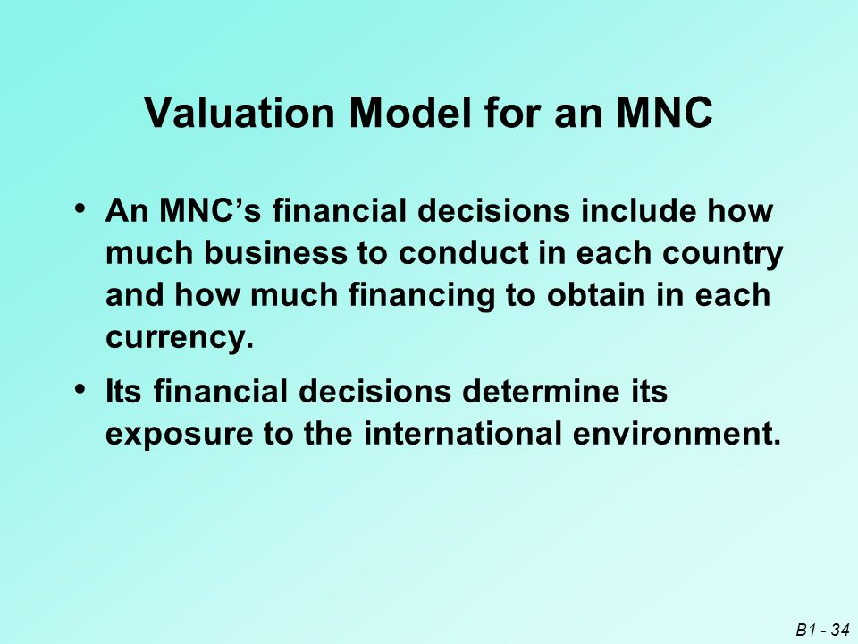 Valuation Model for an MNC