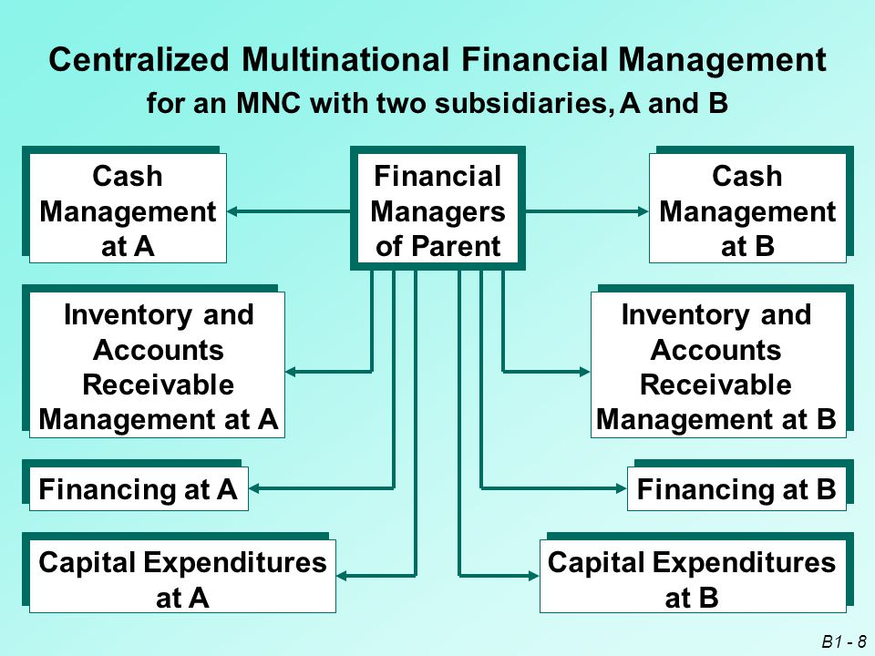 Centralized Multinational Financial Management