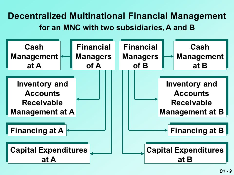 Decentralized Multinational Financial Management