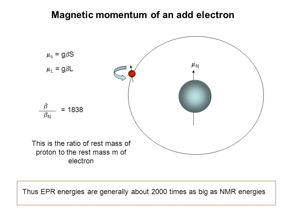 Magnetic momentum of an add electron