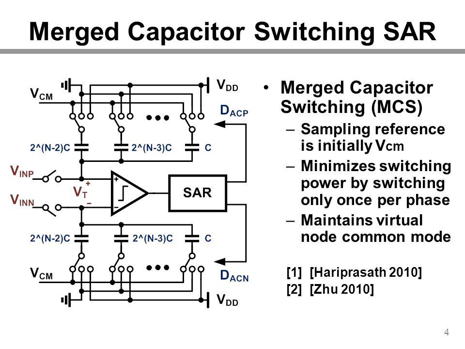 Merged Capacitor Switching SAR