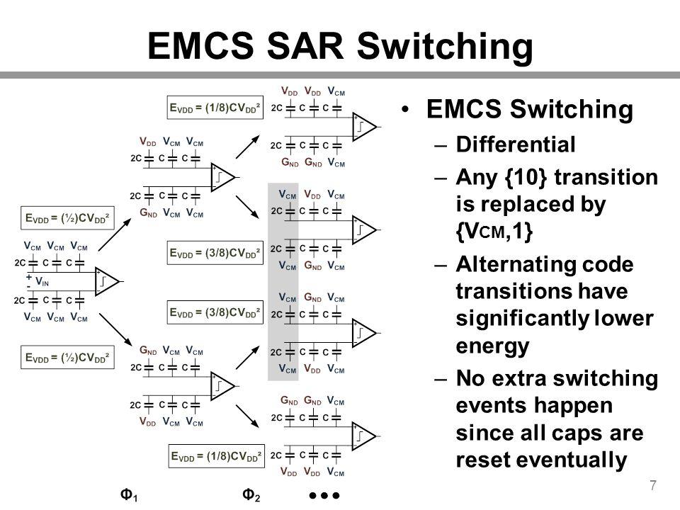 EMCS SAR Switching EMCS Switching Differential