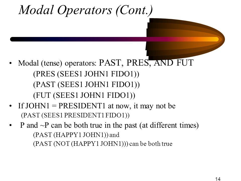 Modal Operators (Cont.)