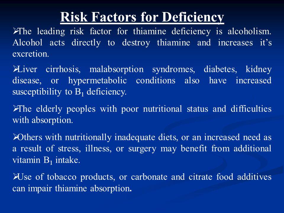Risk Factors for Deficiency