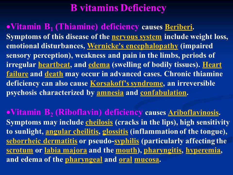 B vitamins Deficiency