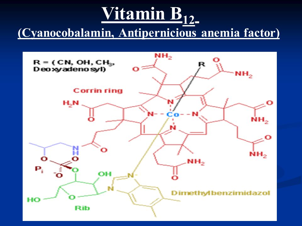 (Cyanocobalamin, Antipernicious anemia factor)