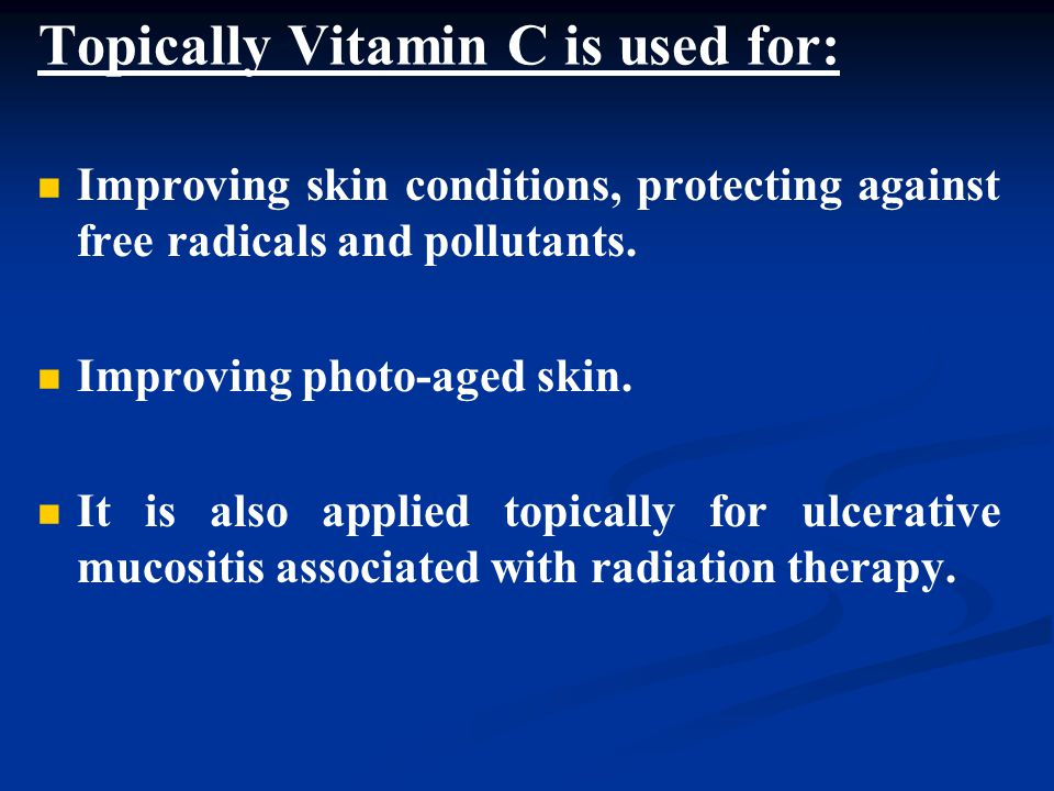 Topically Vitamin C is used for: