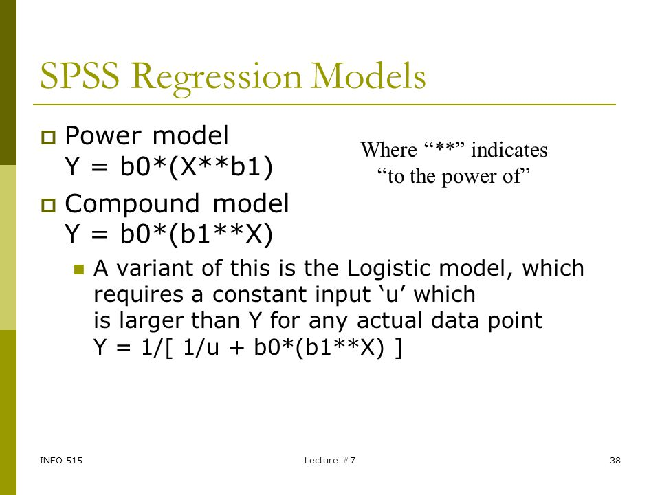 SPSS Regression Models