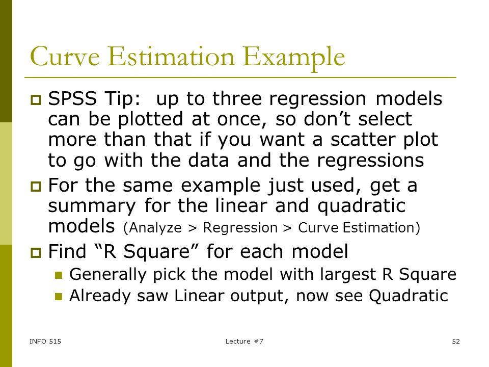 Curve Estimation Example