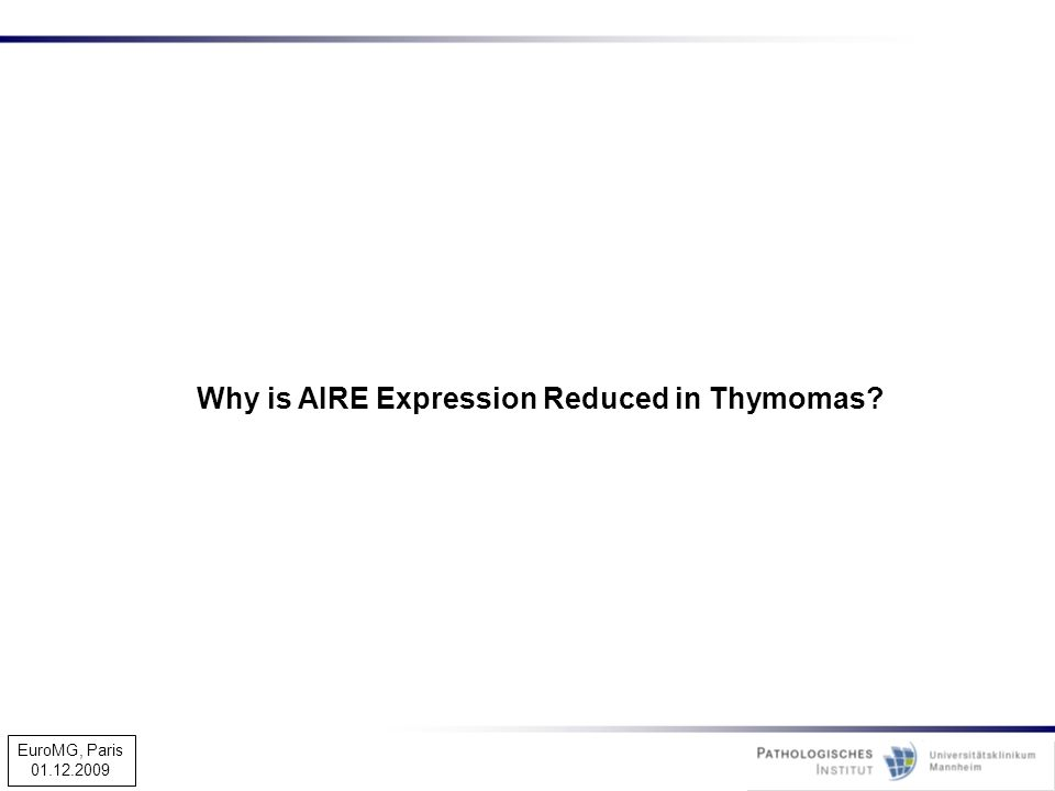 Why is AIRE Expression Reduced in Thymomas
